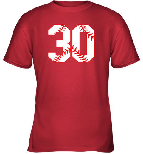 vwj1 thirtieth birthday party 30th baseball shirt born 1989 youth t shirt 26 front red