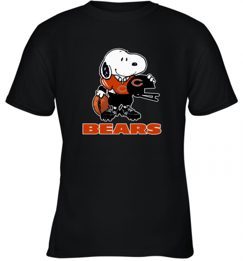 Snoopy A Strong And Proud Chicago Bears Player NFL Youth T-Shirt