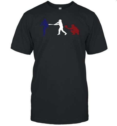 Baseball USA Flag American Tradition Spirit Unisex Jersey Tee