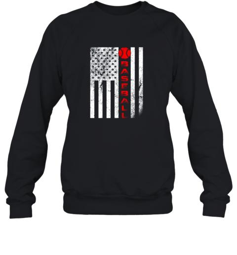 USA Red White  Vintage American Flag Baseball Gift Sweatshirt
