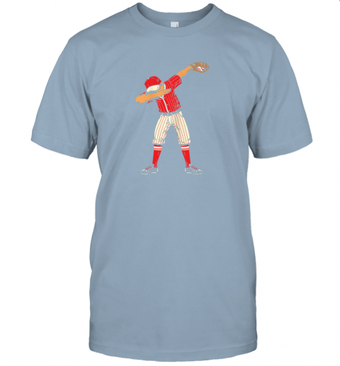 lo1e dabbing baseball catcher gift shirt kids men boys bzr jersey t shirt 60 front light blue