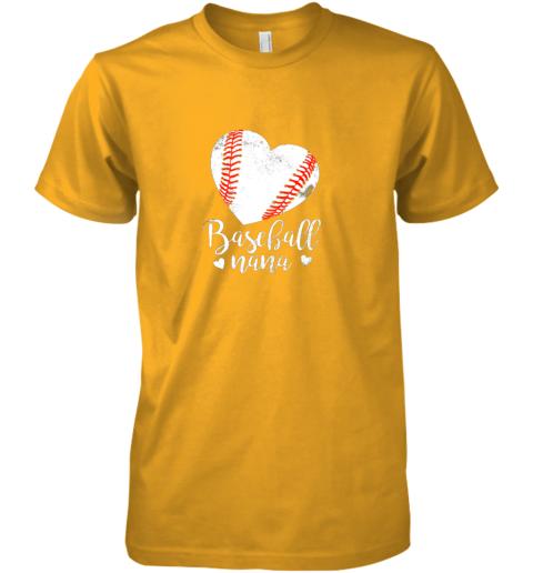 oyow funny baseball nana shirt gift for men women premium guys tee 5 front gold