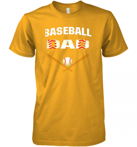 d0wu mens baseball dad shirtbest gift idea for fathers premium guys tee 5 front gold