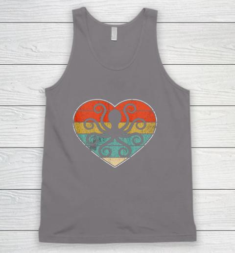 Retro Vintage Octopus Heart Shirt Valentine Gift Tank Top 6