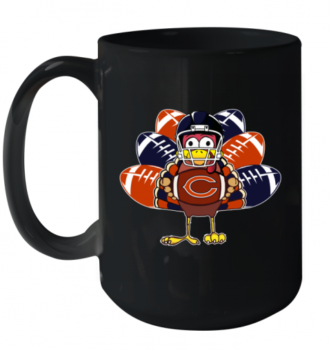 Chicago Bears  Thanksgiving Turkey Football NFL Ceramic Mug 15oz