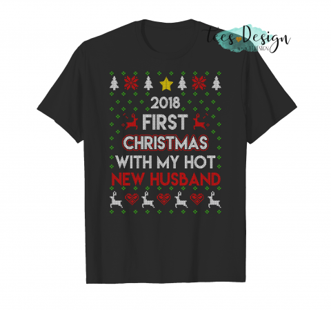 1128 First Christmas With My Hot New Husband T-Shirt