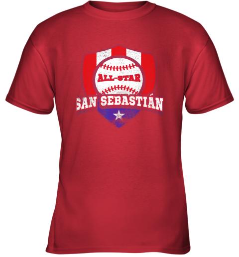 1nbq san sebastian puerto rico puerto rican pr baseball youth t shirt 26 front red