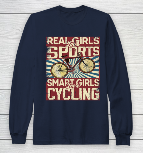 Real girls love sports smart girls love Cycling Long Sleeve T-Shirt 2