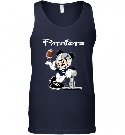 ax4n mickey patriots taking the super bowl trophy football unisex tank 17 front navy