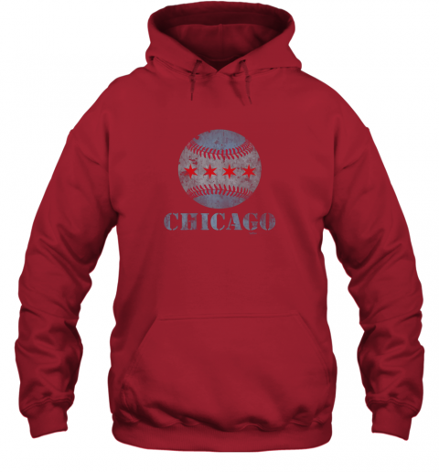 sqmh vintage chicago baseball flag hoodie 23 front red