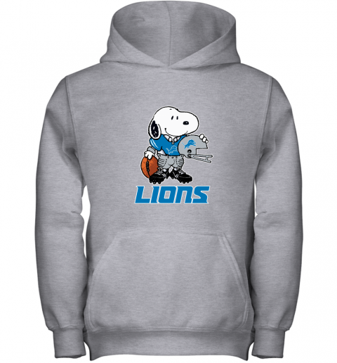 Snoopy A Strong And Proud Detroit Lions Player NFL Youth Hoodie