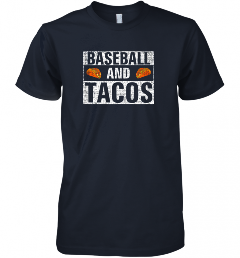 x31s vintage baseball and tacos shirt funny sports cool gift premium guys tee 5 front midnight navy