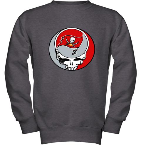 dwmc nfl team tampa bay buccaneers x grateful dead youth sweatshirt 47 front dark heather