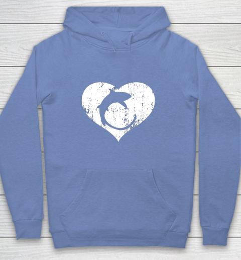 I Love Sharks Gifts Thresher Shark Heart Valentine Gift Youth Hoodie 8