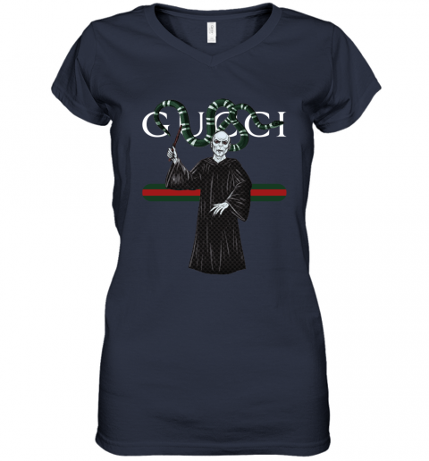gt2t gucci voldemort and nagini harry potter shirts women v neck t shirt 39 front navy