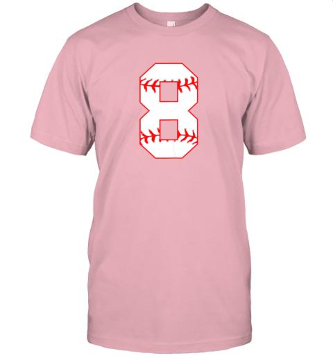sl1c cute eighth birthday party 8th baseball shirt born 2011 jersey t shirt 60 front pink
