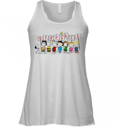 Snoopy And Friends Stay Safe Racerback Tank