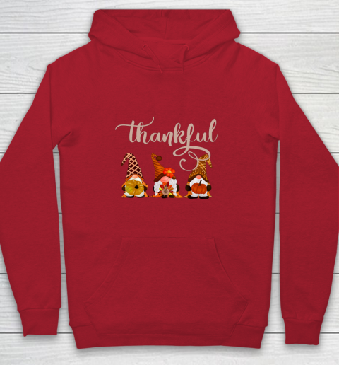 Cute Thanksgiving Thankful Gnomes Youth Hoodie 7