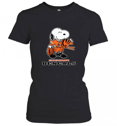 Snoopy A Strong And Proud Cincinnati Bengals NFL Women's T-Shirt