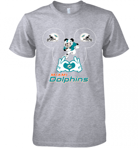 gqrj i love the dolphins mickey mouse miami dolphins premium guys tee 5 front heather grey
