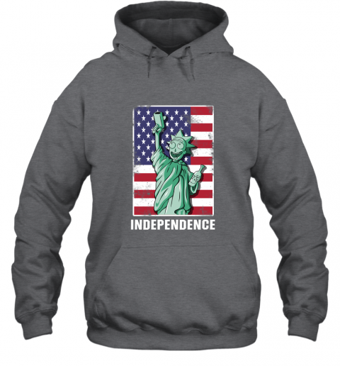nmun rick and morty statue of liberty independence day 4th of july shirts hoodie 23 front dark heather
