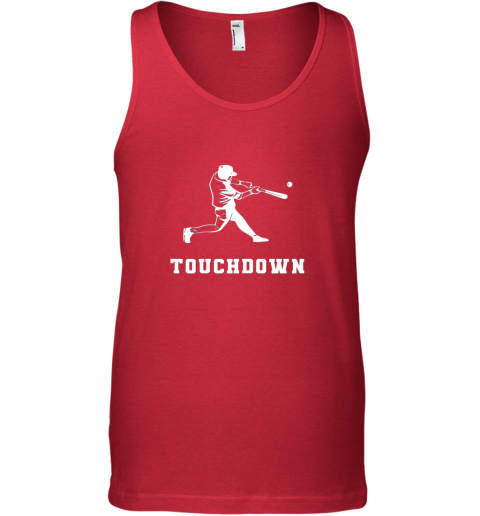 ue3c touchdown baseball shirtfunny sarcastic novelty unisex tank 17 front red