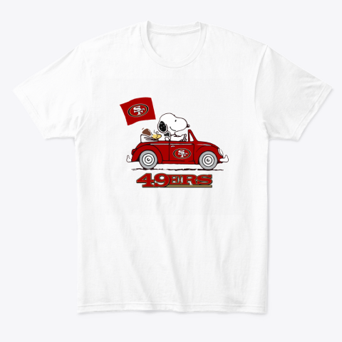 Snoopy And Woodstock Ride The San Francisco 49ers Car T-Shirt