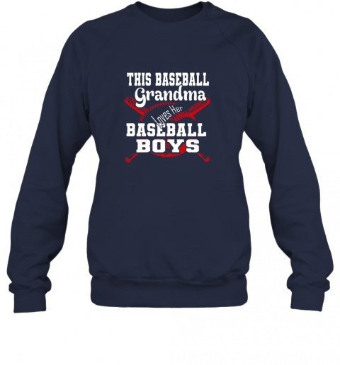 3szm this baseball grandma loves her baseball boys sweatshirt 35 front navy