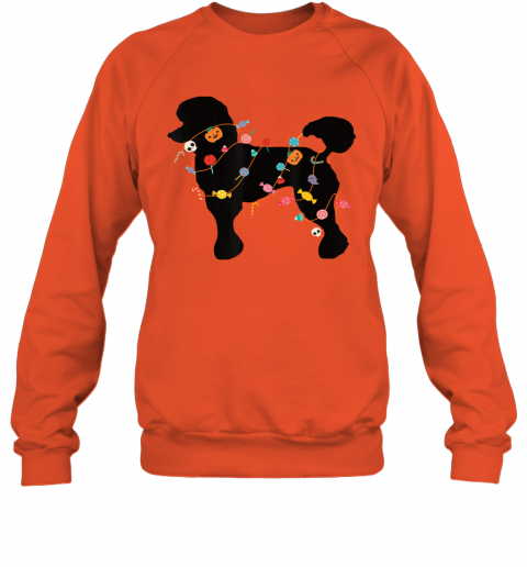 Poodle Halloween Shirt Cute Halloween Outfit for Dog Lovers Sweatshirt