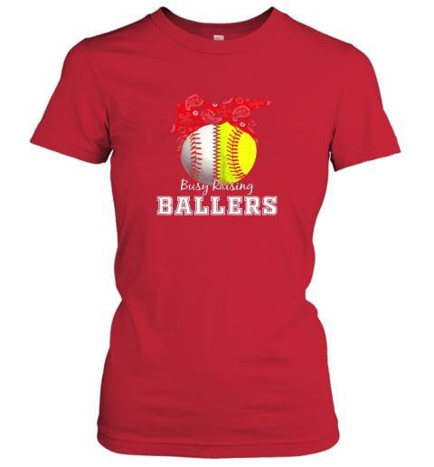 nxv1 busy raising ballers softball baseball shirt baseball mom ladies t shirt 20 front red