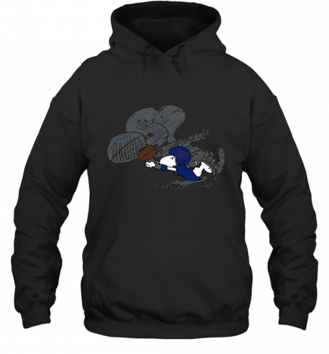 New York Giants Snoopy Plays The Football Game Hoodie