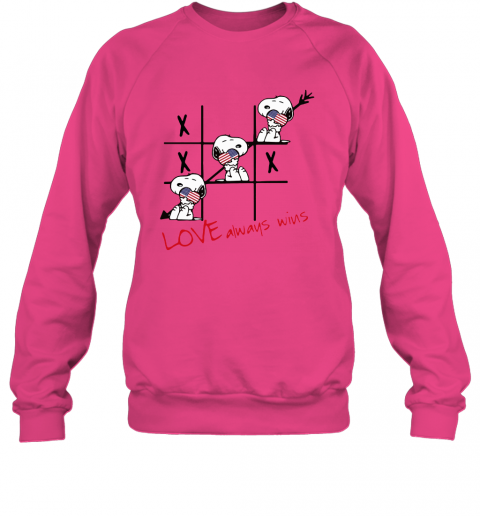nh66 snoopy tic tac toe american love always win sweatshirt 35 front heliconia