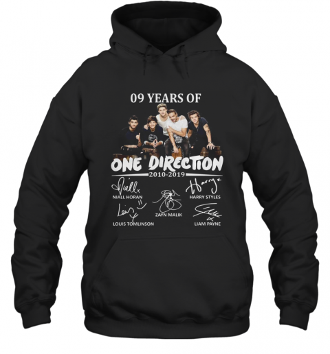 09 Years Of One Direction 2010 2019 Signatures Hoodie