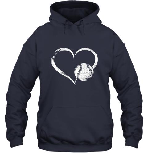 lxql i love baseballl funny baseball lover heartbeat hoodie 23 front navy