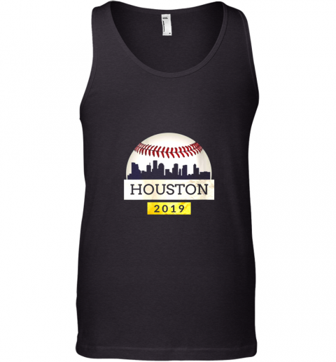 Houston Baseball Shirt 2019 Astro Skyline on Giant Ball Tank Top