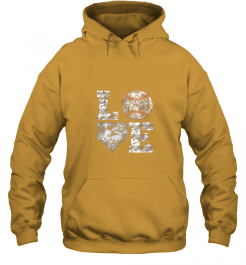 js2h baseball distressed ball cute dad mom love gift hoodie 23 front gold