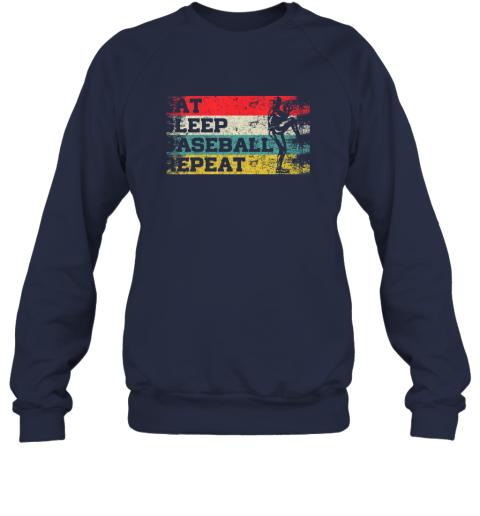jp1l vintage retro eat sleep baseball repeat funny sport player sweatshirt 35 front navy
