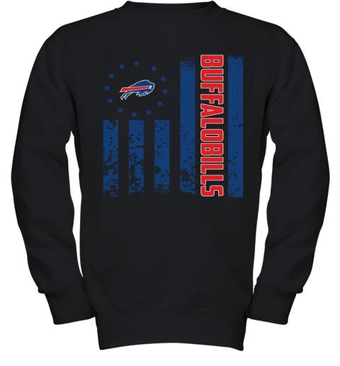 NFL Buffalo Bills Logo American Flag Youth Sweatshirt