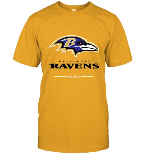 jykt mens baltimore ravens nfl pro line black team lockup t shirt jersey t shirt 60 front gold