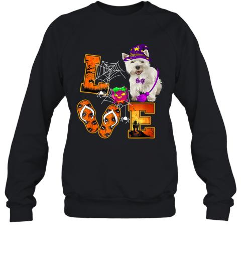 Cairn Terrier Love Halloween Boo Dog Gifts Sweatshirt