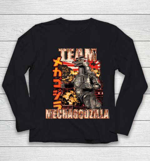 Team Mechagodzilla Japan Vintage Style Youth Long Sleeve