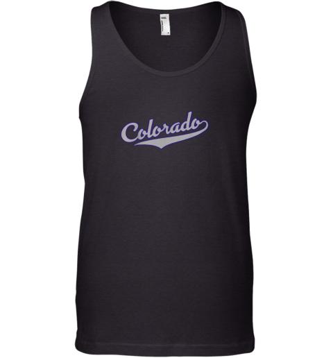 Colorado Shirt  Retro Baseball Script Design Tank Top