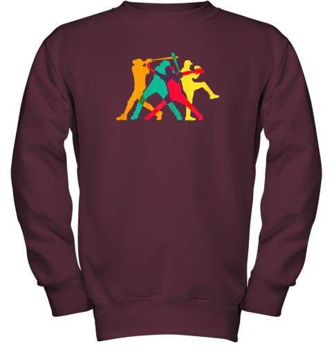 mop6 vintage baseball shirt gifts youth sweatshirt 47 front maroon