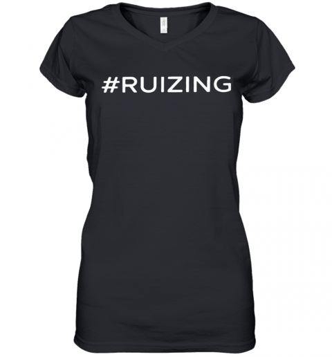 #Ruzing 2020 Women's V-Neck T-Shirt