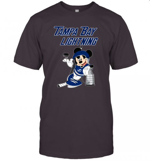 rcnl mickey tampa bay lightning with the stanley cup hockey nhl jersey t shirt 60 front dark grey