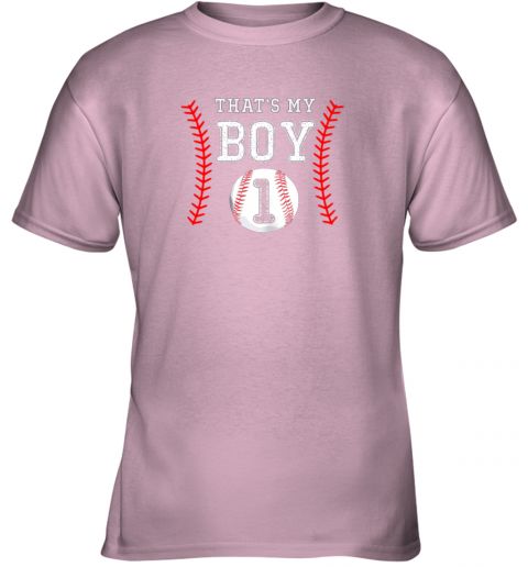 ljtq that39 s my boy baseball 1 year old dad mom youth t shirt 26 front light pink