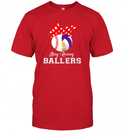 o052 baseball volleyball busy raising ballers shirt mothers day jersey t shirt 60 front red