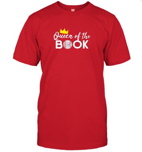 vkfk scorekeeper baseball team scorebook queen jersey t shirt 60 front red