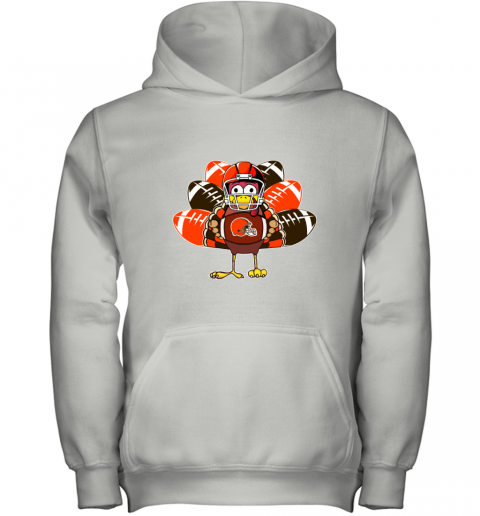 Cleveland Browns  Thanksgiving Turkey Football NFL Youth Hoodie