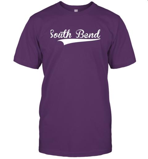 tyoz south bend baseball styled jersey shirt softball jersey t shirt 60 front team purple